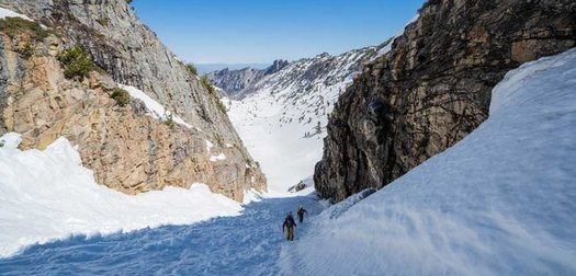 In Search of Couloirs in the Nevada Desert