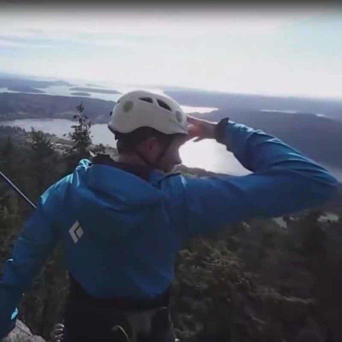 Rock Climbing outside Bellingham, Washington
