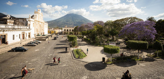 Coordinates Antigua, Guatemala: European Romance in Central America's Highlands